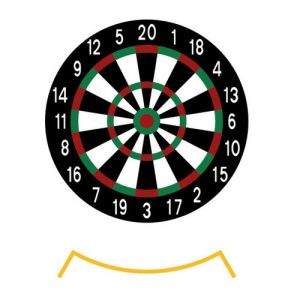 Termoplast dartspill er prefabrikert for slitesterk og langvarig merking. på asfalt og betong