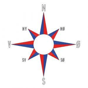 Termoplast kompass er prefabrikert for slitesterk og langvarig merking. på asfalt og betong