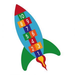 Termoplast rakett paradis er prefabrikert for slitesterk og langvarig merking